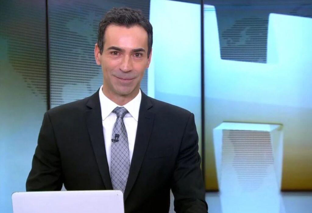 César Tralli comanda o Jornal Hoje no lugar de Maju Coutinho.