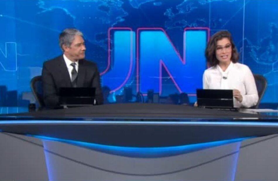 William Bonner e Renata Vasconcellos no Jornal Nacional